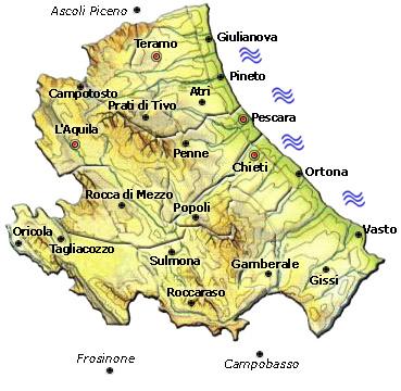 Cartina Della Regione Abruzzo.Abruzzo Vacanze Guide Turistiche Itinerari E Hotel In Abruzzo