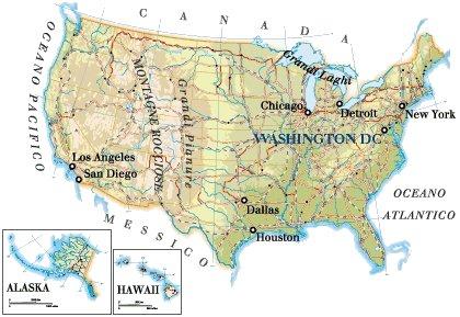 Cartina Fiumi Usa.Stati Uniti Guida Turistica Stati Uniti Informazioni Turistiche E Geografiche Stati Uniti